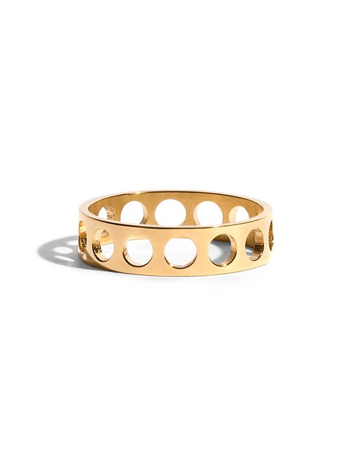 Voids Ring in Ethical Yellow Gold 4.8mm