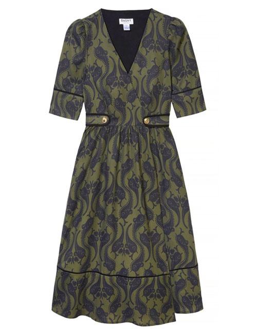 Roselyn Olive Dress