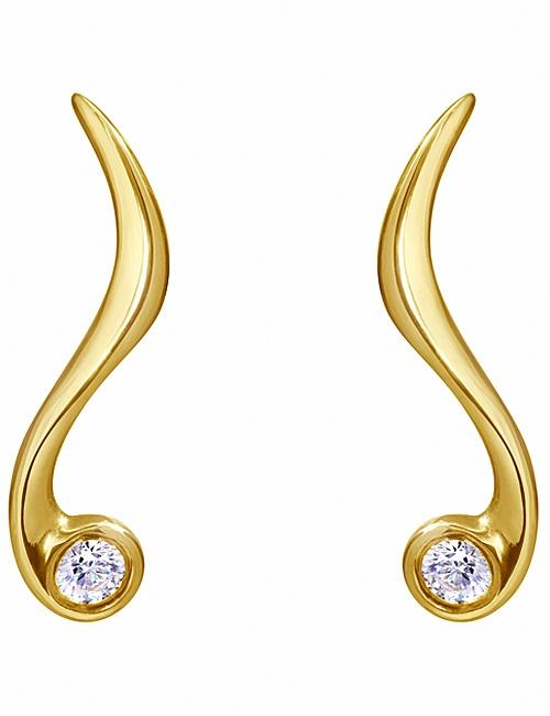 Northern Lights Curved Earrings by Sarah Jordan