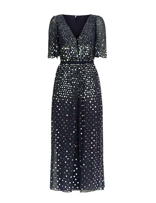 Topiary sequinned jumpsuit