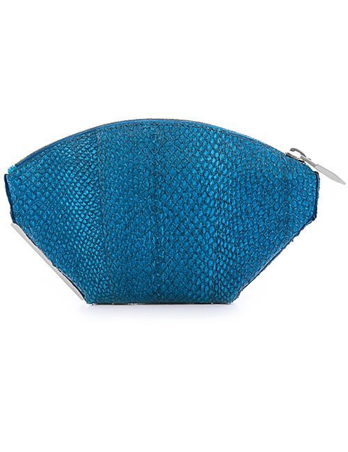 Ella Clutch in Teal Blue