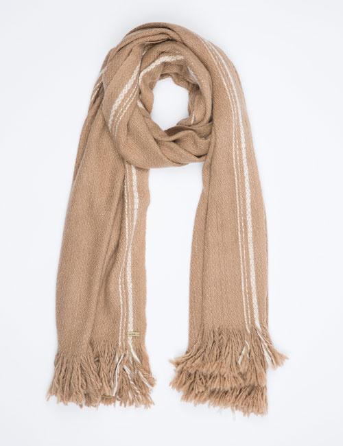 Hand Woven Selvedge Stripe Wrap – Camel
