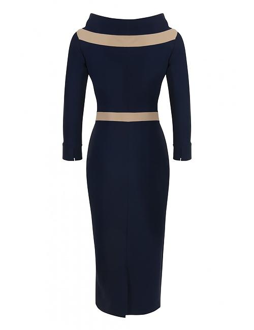 Ava Contrast Detail Dress
