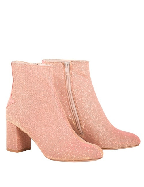 Silver Lining Ankle Boots in Disco Pink