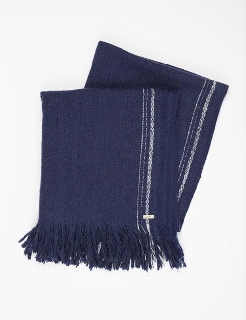 Yak Hand Woven Selvedge Stripe Wrap – Indigo