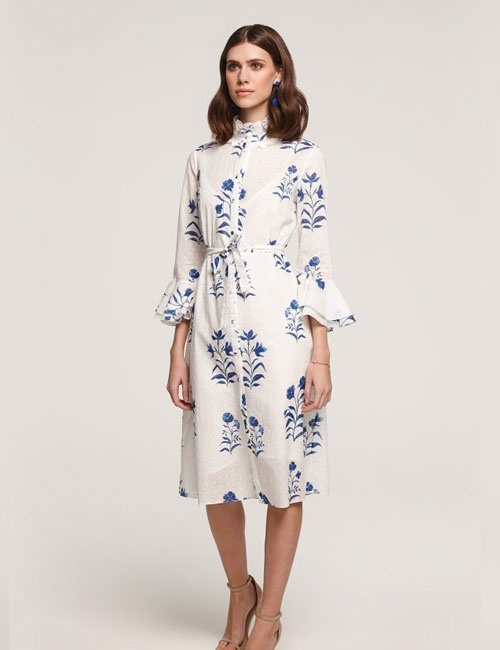 Maia Floral Broderie Anglaise Shirt Dress