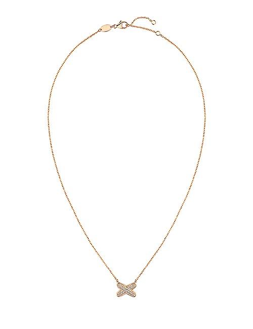 Jeux de Liens 18ct Rose-Gold Diamond Pendant Necklace