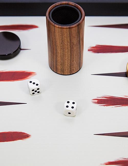 Black & White Feather Backgammon Board