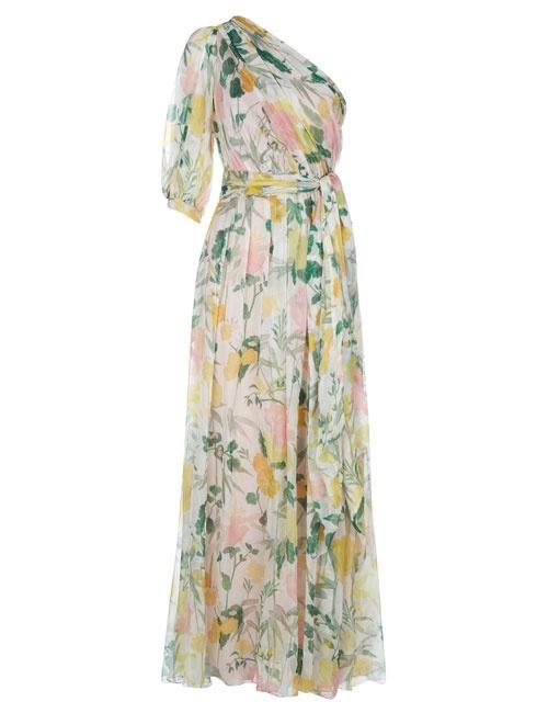 Malati Floral One Shoulder Dress