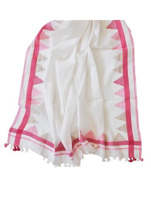 The Pink Jamdani Shawl