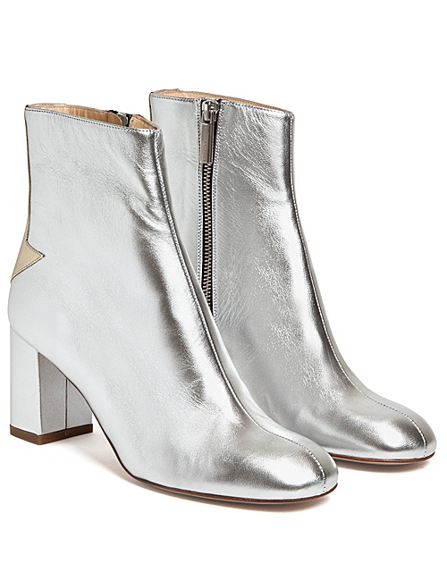 Silver Lining Arrow Back Ankle Boots