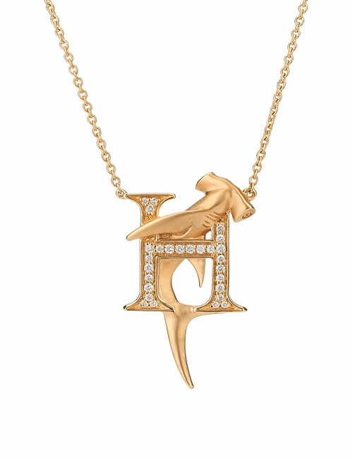 H is for Hammerhead Shark Necklace