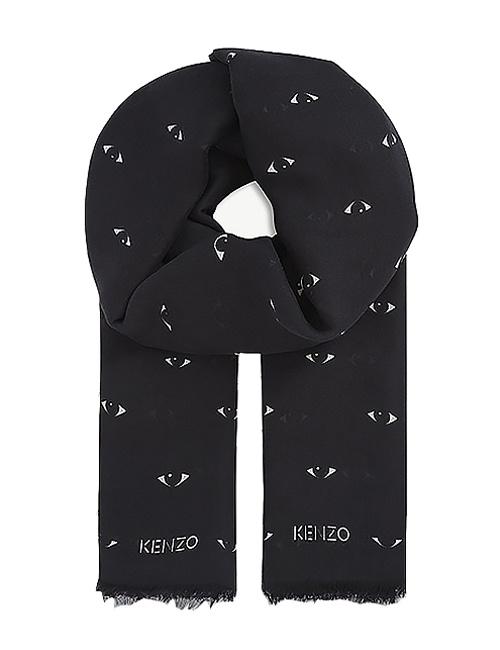 Eyes-all-over print modal-silk blend scarf