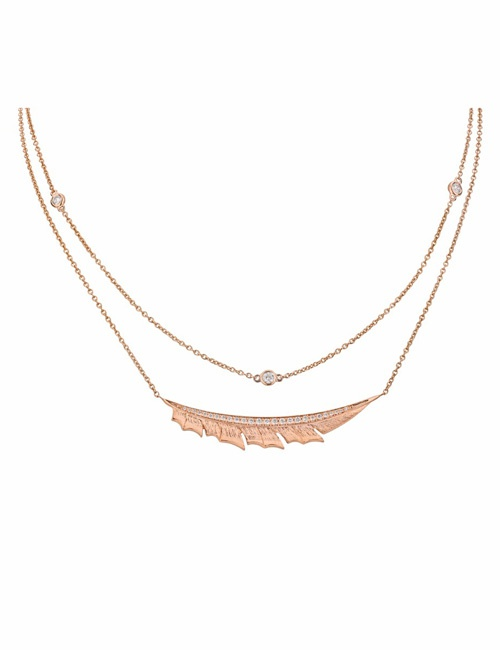 Magnipheasant - Pave Feather Necklace