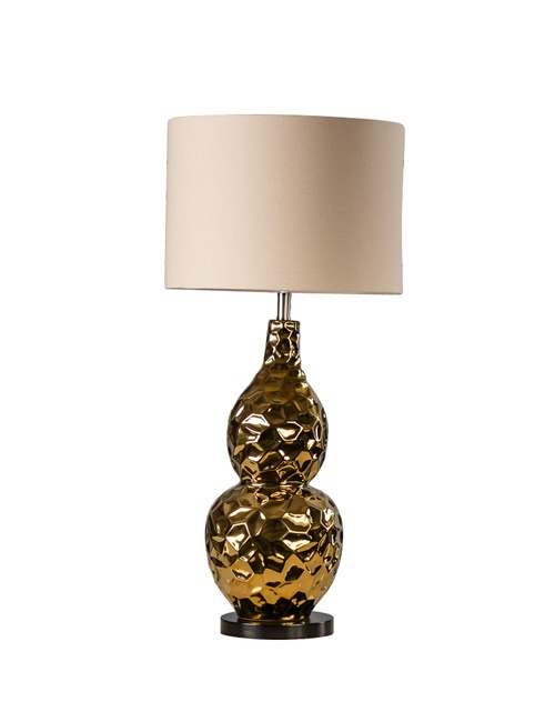 Gold Bulb Lamp With Shade