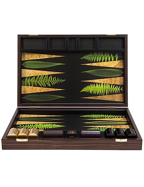 Leaf Ebony Backgammon Board