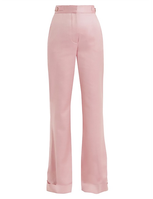 Gainsbourg herringbone wool and silk trousers