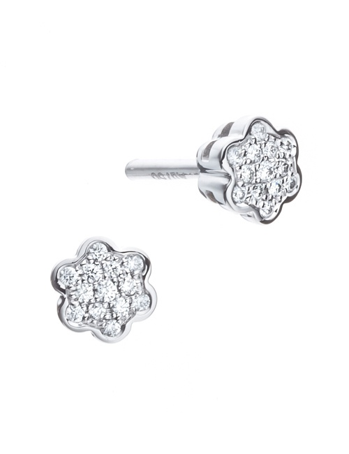 Tiny Mandala Collection Studs White