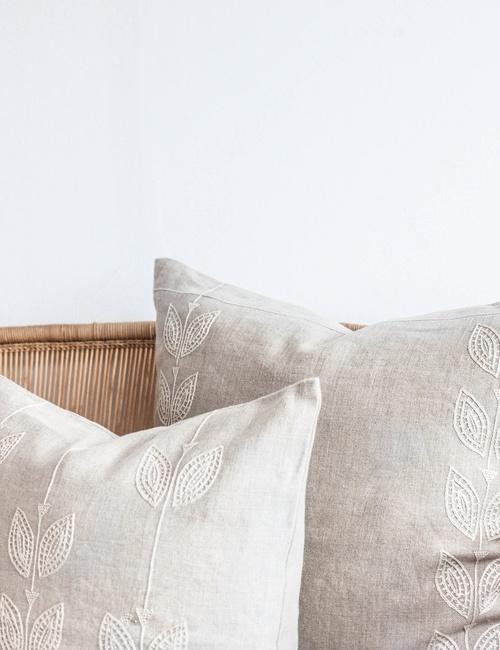 The Cream Petal Row Cushion Cover