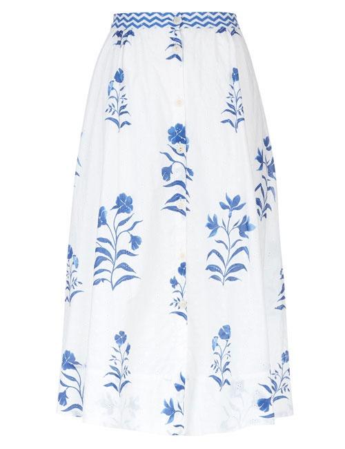 Aruna Floral Broderie Anglaise Skirt