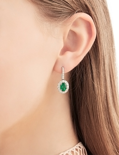 1735 Earrings Emerald