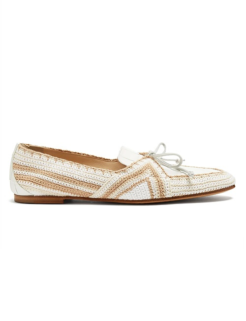 Hays crochet-trimmed leather loafers