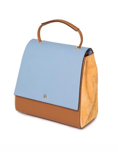 Sky Blue And Tan Luna Back Pack