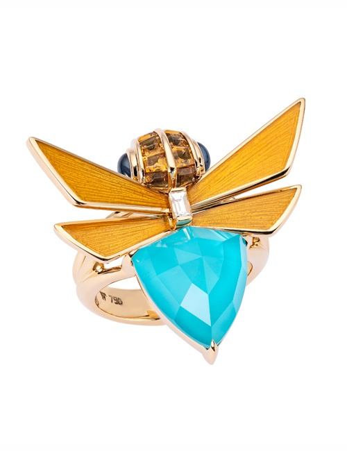 Jitterbug Turquoise Ring