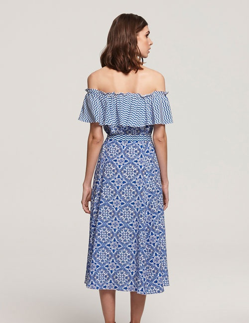 55cd22656b7e6 Aasha Off the Shoulder Dress