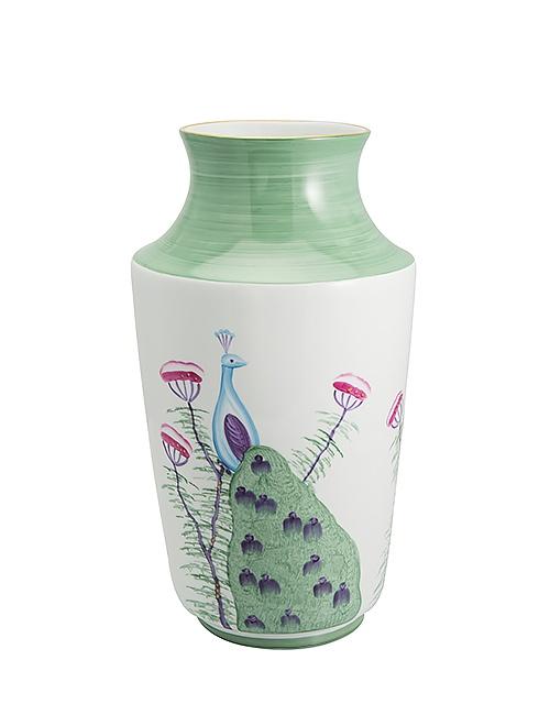Large Peacock Vase Pair – Emerald