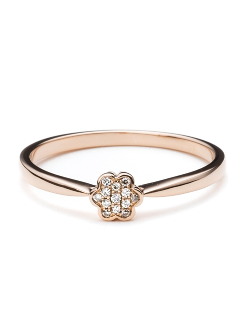 Tiny Mandala Collection Ring Rose Gold