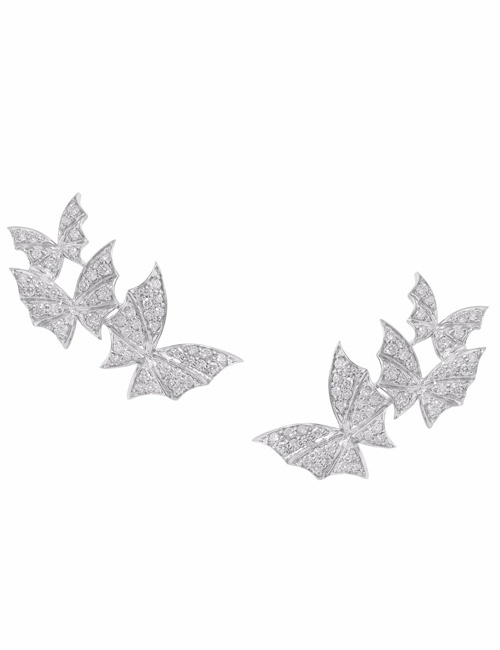 Fly By Night - Pave Triple Earrings