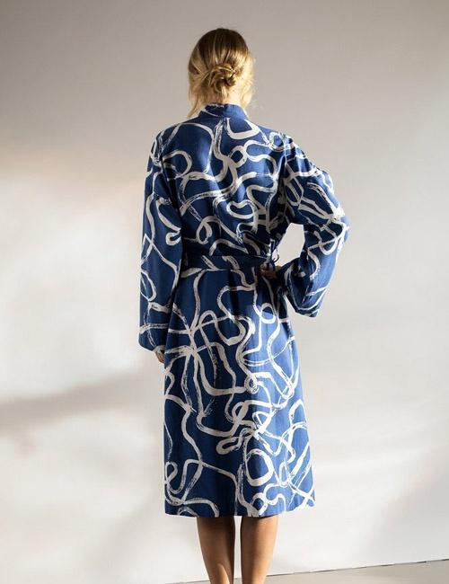 Zanzibar Cotton Robe (Below the Knee)
