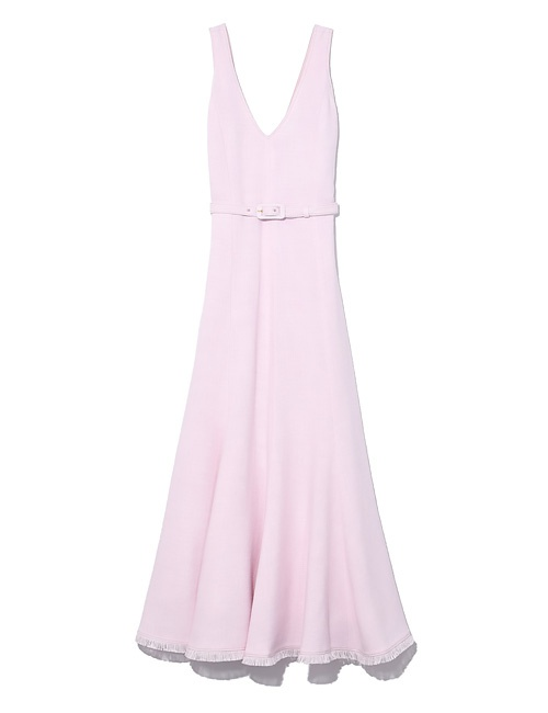 Bridget fit-and-flare woven midi dress