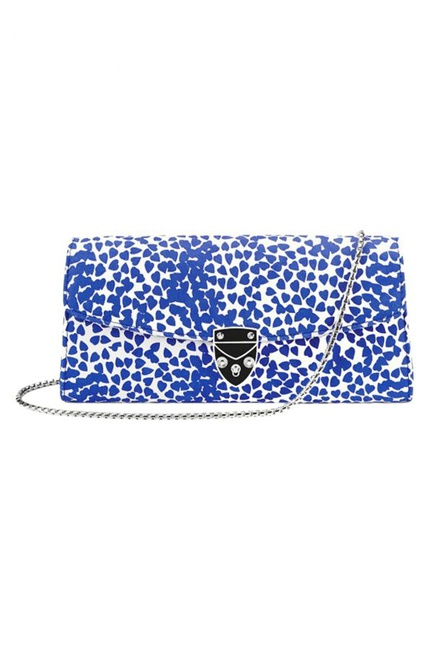 Aspinal Blue Hearts Clutch