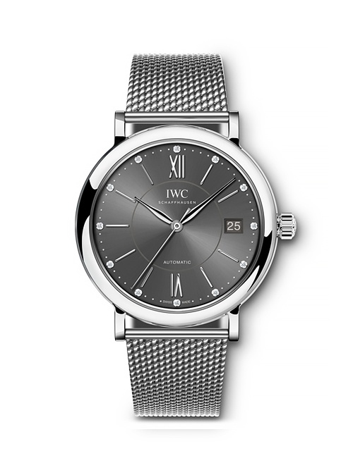 Portofino Automatic 37 with Mesh Stainless Steel Bracelet