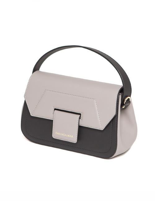Stone Gray And Black Mira Shoulder Bag