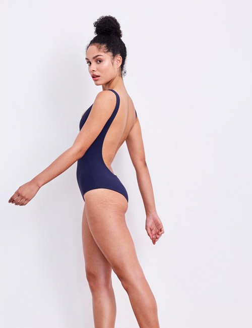 'Leotard' Swimsuit in 'Midnight'