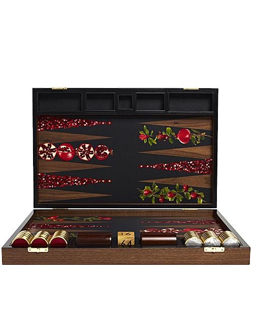 Pomegranate Backgammon Board