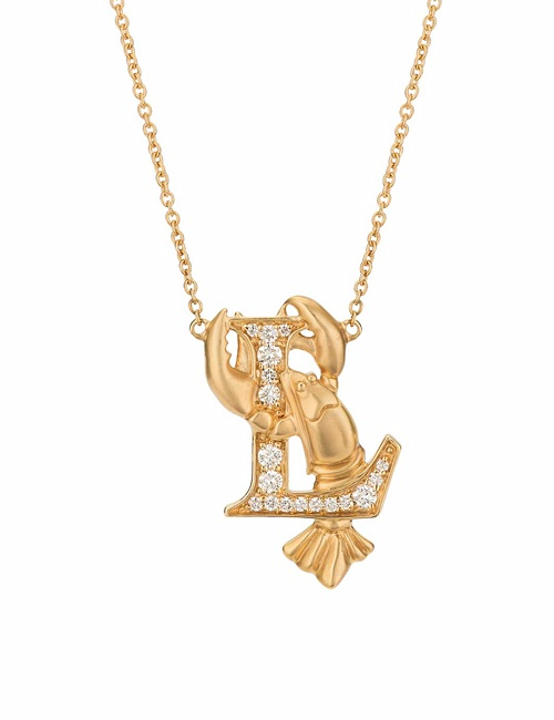 L is for Lobster Necklace