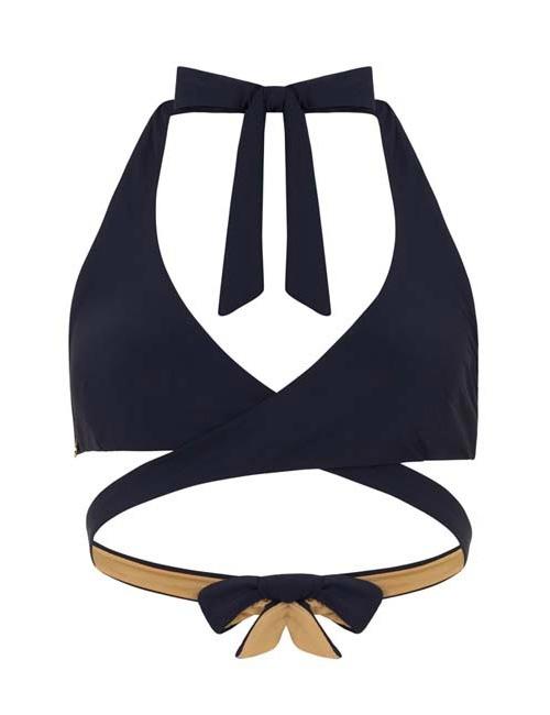 'Paeonia' Curve Bikini Top in 'Midnight'