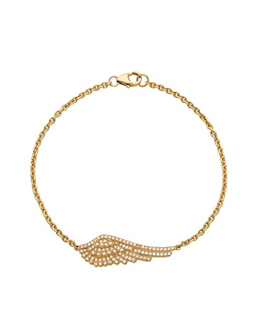 Wings Classic Bracelet in Yellow Gold