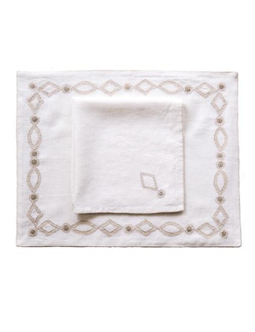 Simplified Trellis Placemat and Napkin Set Bundle
