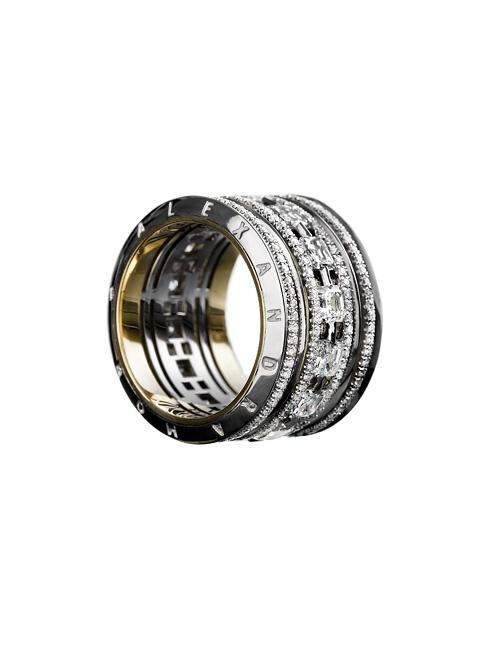 Wide Asscher-Cut Diamond Platinum Eternity Band Ring