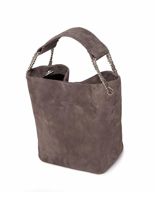 Gray Leia Bucket Bag