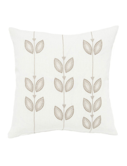The Beige Petal Row Cushion Cover