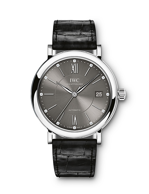 Portofino Automatic 37 with Black Alligator Strap