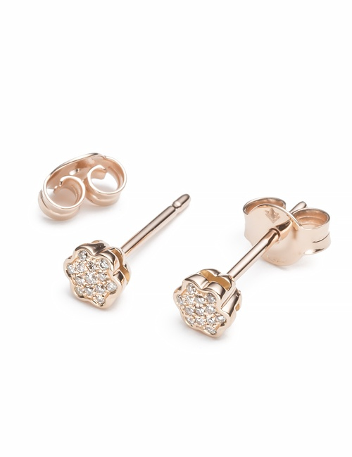 Tiny Mandala Collection Studs Rose Gold