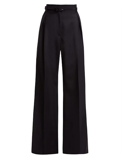 Dora wide-leg wool trousers