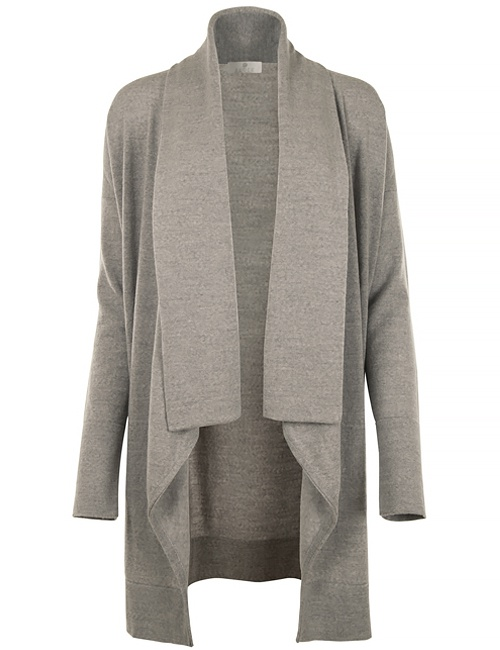 Kate Merino Cardigan - Grey